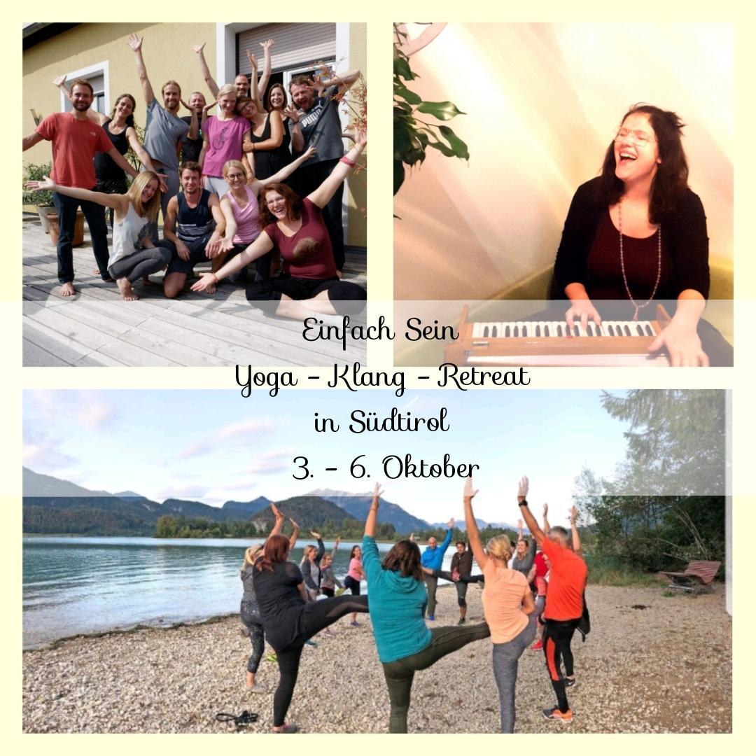 Einfach Sein Yoga – Klang – Retreat in Südtirol